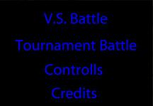 Dragon Ball Z Tournament Battle Title Screen