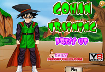 Gohan Training Dress Up Title Screen