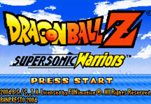 Dragon Ball Z Supersonic Warriors Online Title Screen