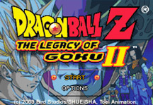 Dragon Ball Z Legacy of Goku 2 Online Title Screen