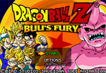 Dragon Ball Z Buu's Fury Title Screen
