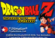 Dragon Ball Z Legacy of Goku Online Title Screen
