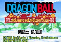Dragon Ball Advanced Adventure Online Title Screen