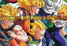Dragon Ball Fierce Fighting 2.8 Title Screen