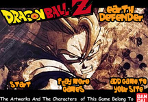 Dragon Ball Z Earth Defender Title Screen