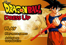 Dragon Ball Dress Up Title Screen