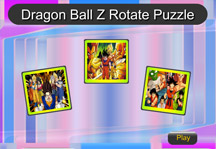 Dragon Ball Z Rotate Puzzle Title Screen