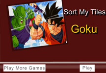 Sort my tiles Goku Title Screen