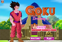 Goku Dress Up 2 Title Screen