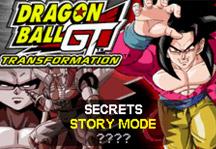 Dragon Ball GT Transformation Online Title Screen