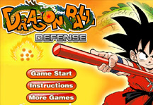 Dragon Ball Defense Title Screen