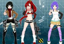 Anime Dress Up Title Screen