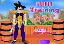 Gohan Training Dress Up 2 Title Screen