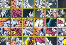 Goku and Vegeta SSJ5 Puzzle Gameplay