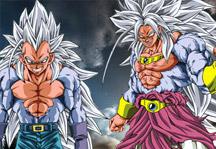 Goku and Vegeta SSJ5 Puzzle Title Screen