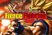 Dragon Ball Fierce Fighting 3.0 Title Screen
