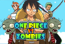 One Piece vs Zombies Title Screen