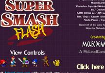 Super Smash Flash Title Screen