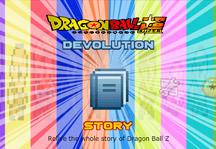 Dragon Ball Super Devolution Title Screen