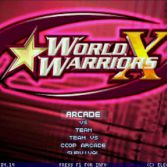 World Warriors X - Title screen