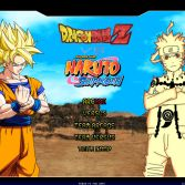 Dragon Ball Z vs Naruto Shippuden MUGEN - Title screen