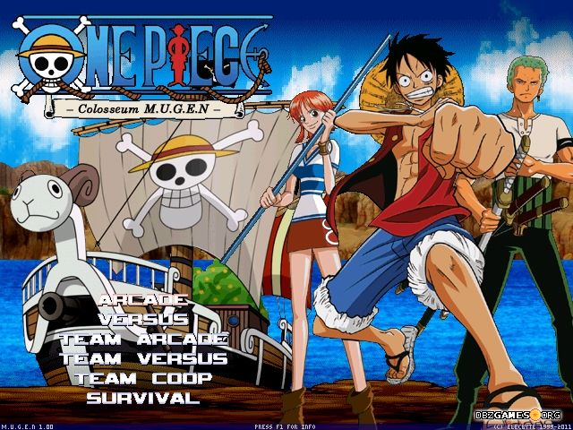 jeux one piece colosseum mugen 2011