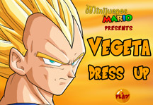 Dress Up Vegeta Title Screen