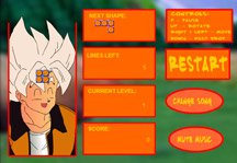 Dragon Ball Z Tetris Gameplay