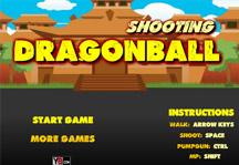 Shooting Dragon Ball Title Screen