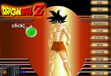 Dragon Ball Warriors Creator Title Screen