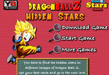 Dragon Ball Z Hidden Stars Title Screen