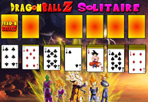 Dragon Ball Z Solitaire Gameplay