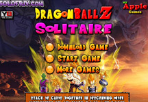 Dragon Ball Z Solitaire Title Screen