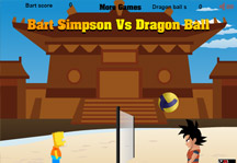 Bart vs Dragon Ball Gameplay