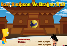 Bart vs Dragon Ball Title Screen