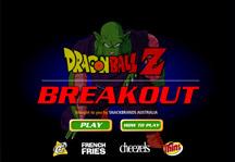 Dragon Ball Z Breakout Title Screen