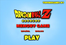 Dragon Ball Memory Game Title Screen