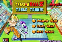 Dragon Ball Z Table Tennis Title Screen