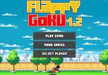 Flappy Goku Title Screen