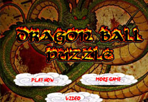 Dragon Ball Puzzle Title Screen