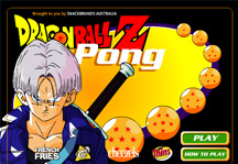 Dragon Ball Z Pong Title Screen