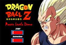 Dragon Ball Z Power Level Demo Title Screen