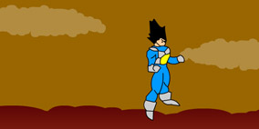 Dragon Ball Z Escape from planet Vegeta