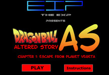 Dragon Ball Z Escape from planet Vegeta Title Screen
