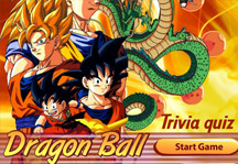 Dragon Ball Trivia Quiz Title Screen