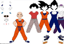 Krillin Dress Up Title Screen