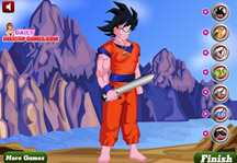 Goku Dress Up 4 Gameplay