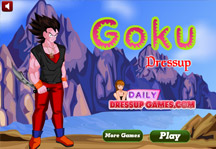 Goku Dress Up 4 Title Screen