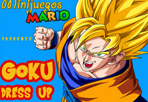 Goku Dress Up 5 Title Screen