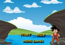 Jumping Goku Title Screen